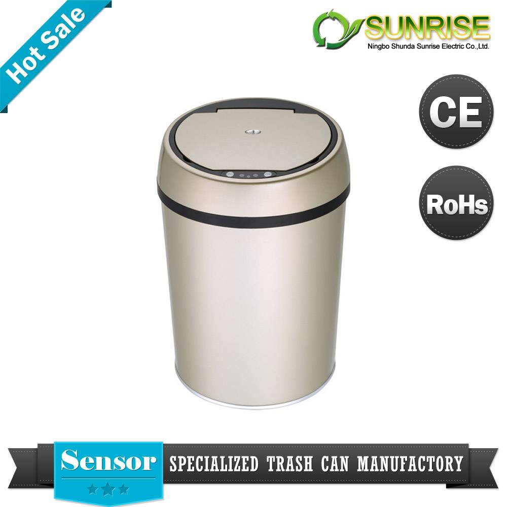 Colorful Sensor Stainless Steel Dustbin