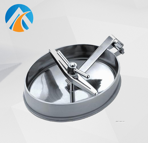 Sanitary stainless steel oval manhole cover