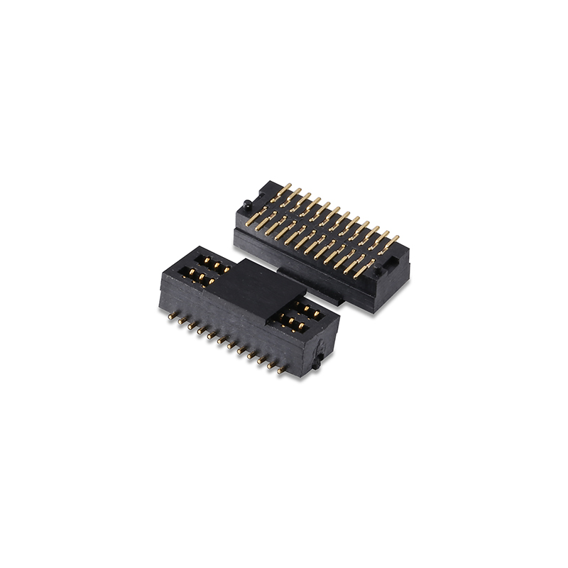 0.8mm pitch double slot female board to board connector