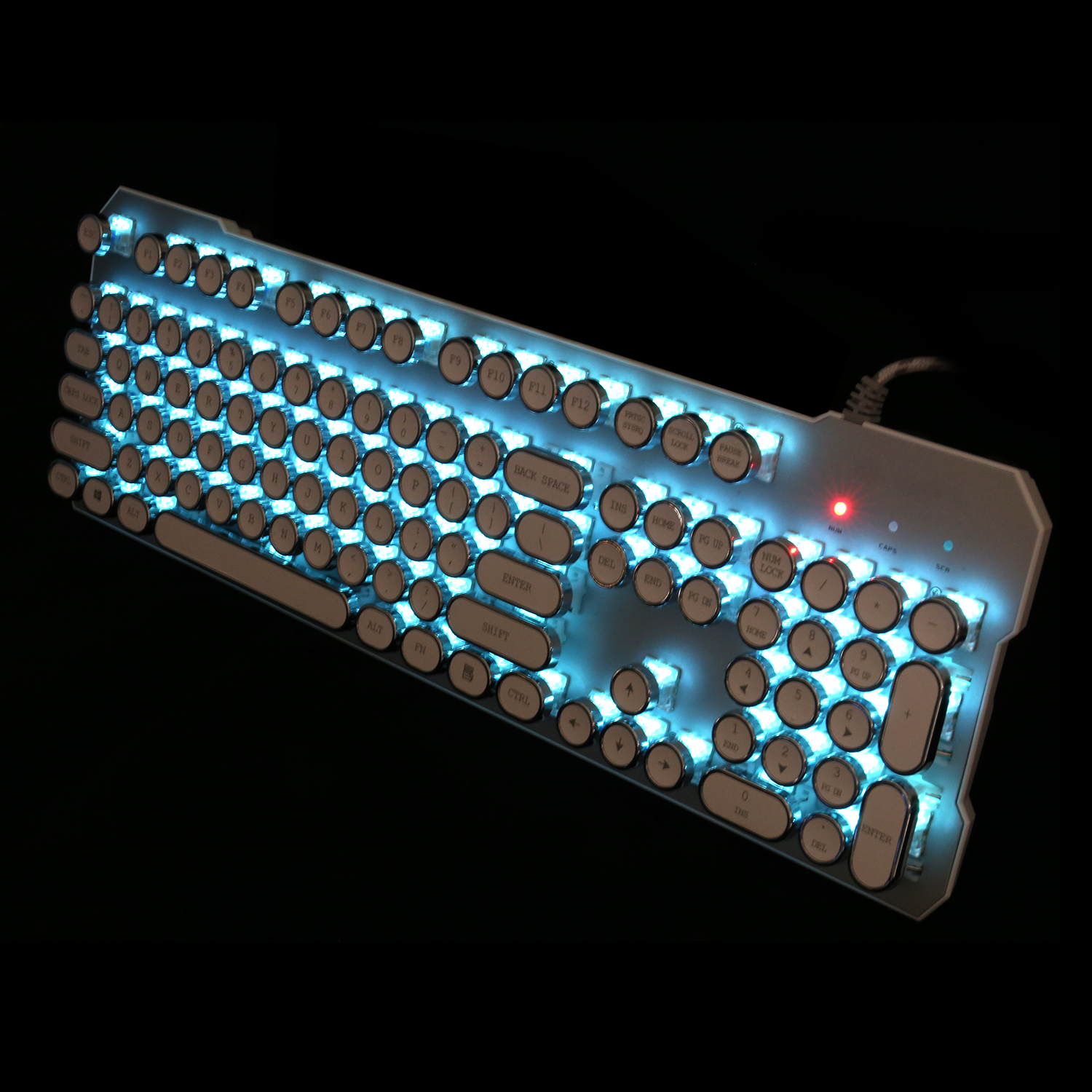 Hot selling Retro Punk Design Best Wired multimedia Mechanical keyboard with competitive price