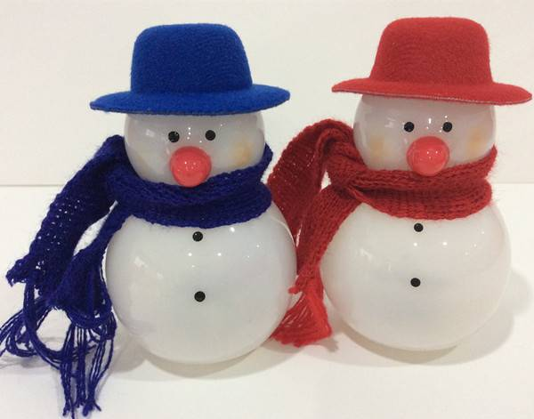 Wholesale PE Christmas Snowman with LED Christmas Deocrations Xmas Tree Decorations