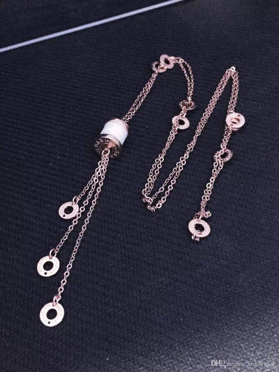 NEFFLY New fashion sweater Ceramic necklaces 925 silver necklaces long necklacces for women.