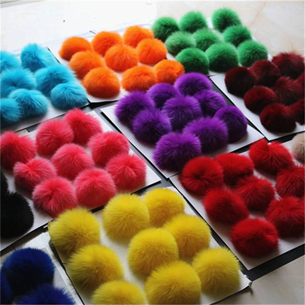 24 Hour Fox Fur Pom Poms