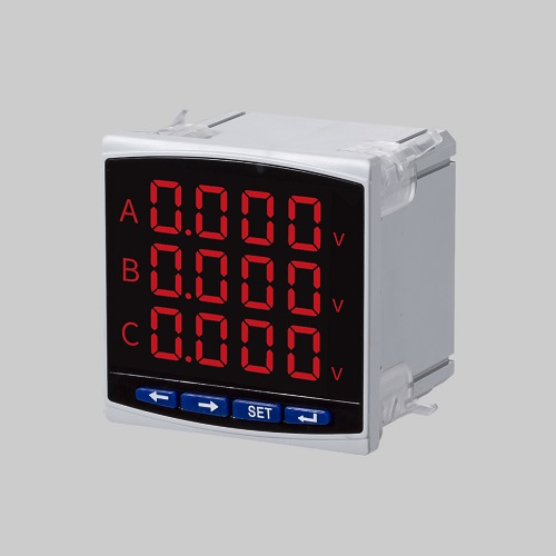 LED three phase digital programmable voltmeter used in control panel