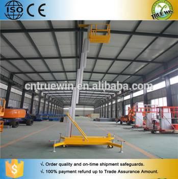 TRUEWIN telescopic vertical man lift aluminum lift platform