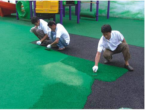 green color epdm rubber granules