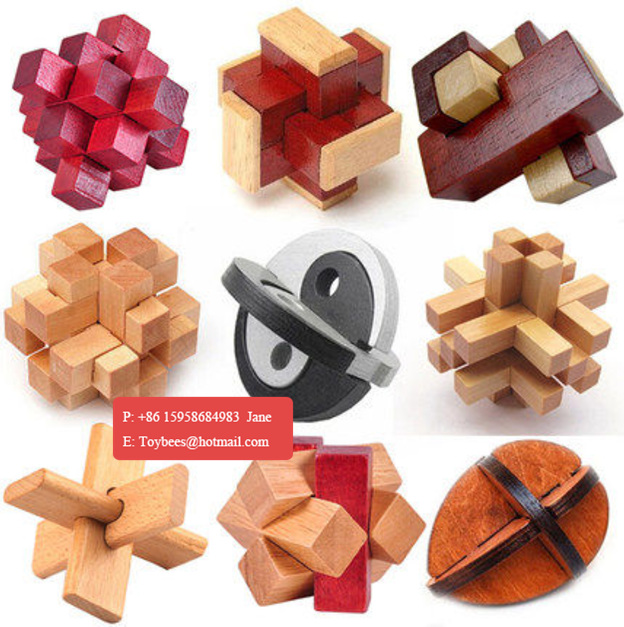 3D Wooden Intelligence Game Wood IQ Puzzle Brain Teaser