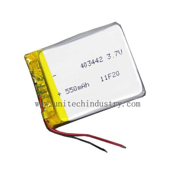 403442 lithium polymer battery /lipo batteries 3.7v 550mah
