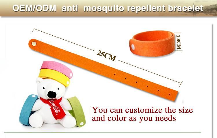 kangdi direct factory OEM mosquitorepellentwristband bracelet