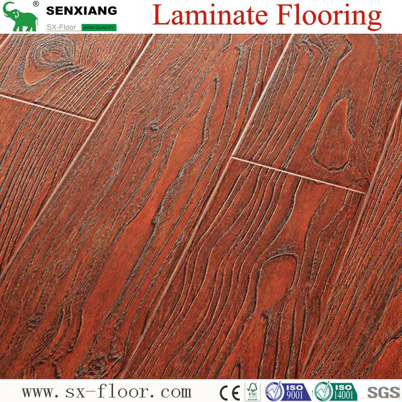 12mm Deep Registered Embossed Laminated Wooden Flooring