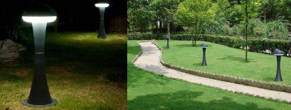INTEGRATED SOLAR LED LAWN LIGHT
