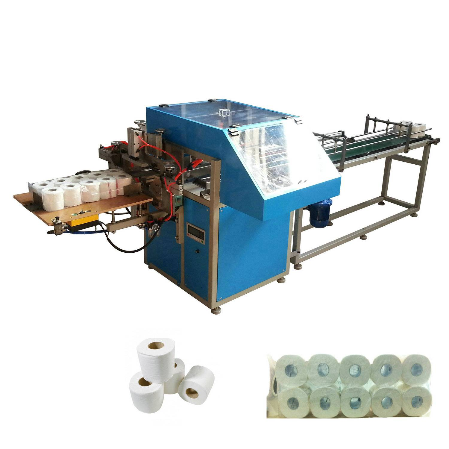 XY-AI-398A Semi automatic toilet paper roll packing machine