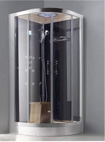 Built-in wellness & beauty steam cabin with digital thermostatic control