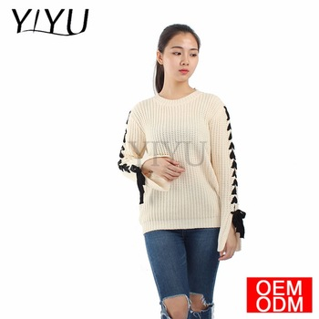 2017 Women Casual pullovers o-neck Long Sleeve Bandage Sweater