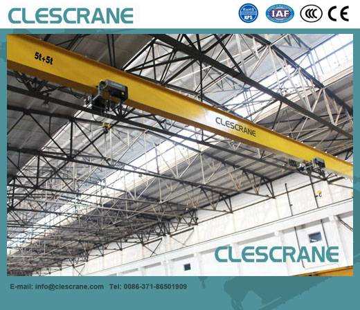 CHS Series 10 ton overhead top running single girder bridge crane
