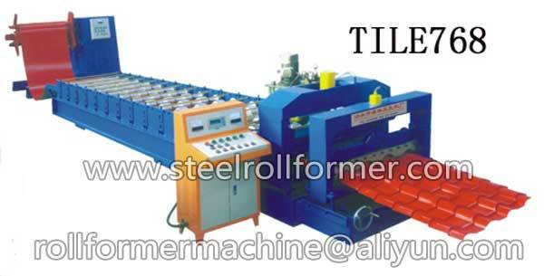 glazed tile cold roll forming machine