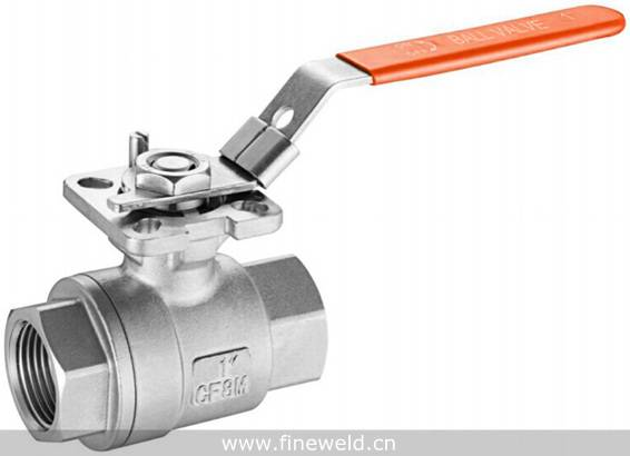2 Piece Threaded Ball Valve With Mounting Pad