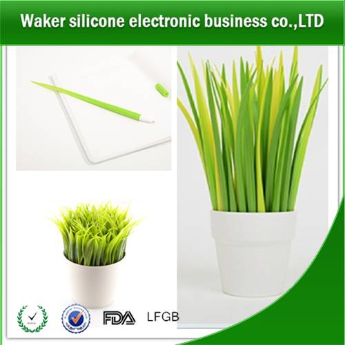 Silicone fresh grass ballpoint pen for office