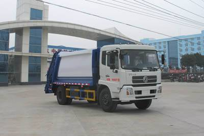 dongfeng tianjing compression garbage truck