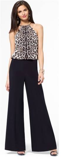 YL15-067 lady's leopard printing jumpsuit