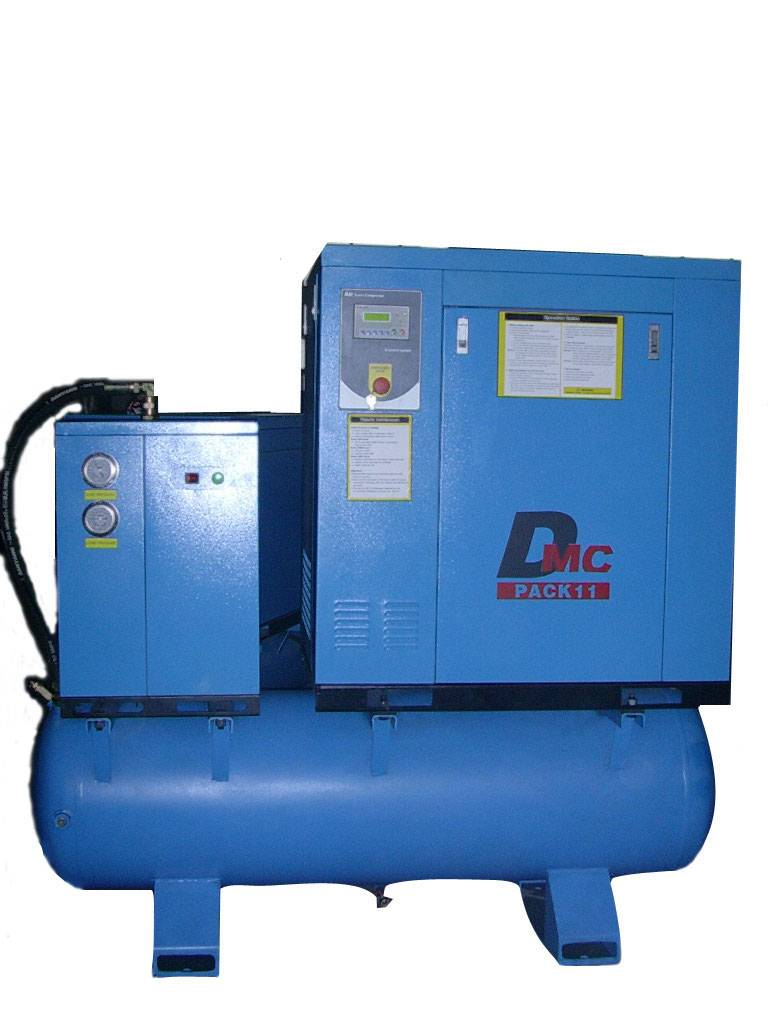 15hp screw compressor with dryer and tank