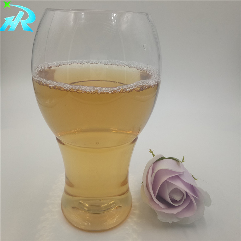 New Design 500ml Glassware for Beer Customized Shatterproof Bisphenol A BPA Free Clear Pilsner Plast