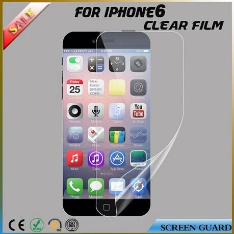 Clear anti scratch LCD screen protector for iphone 6s
