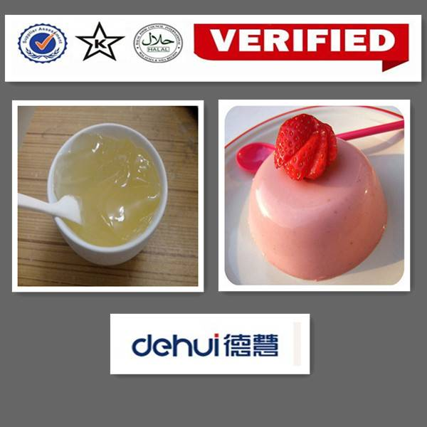 Pudding Powder little water overflow with toughness & elastic pudding gel