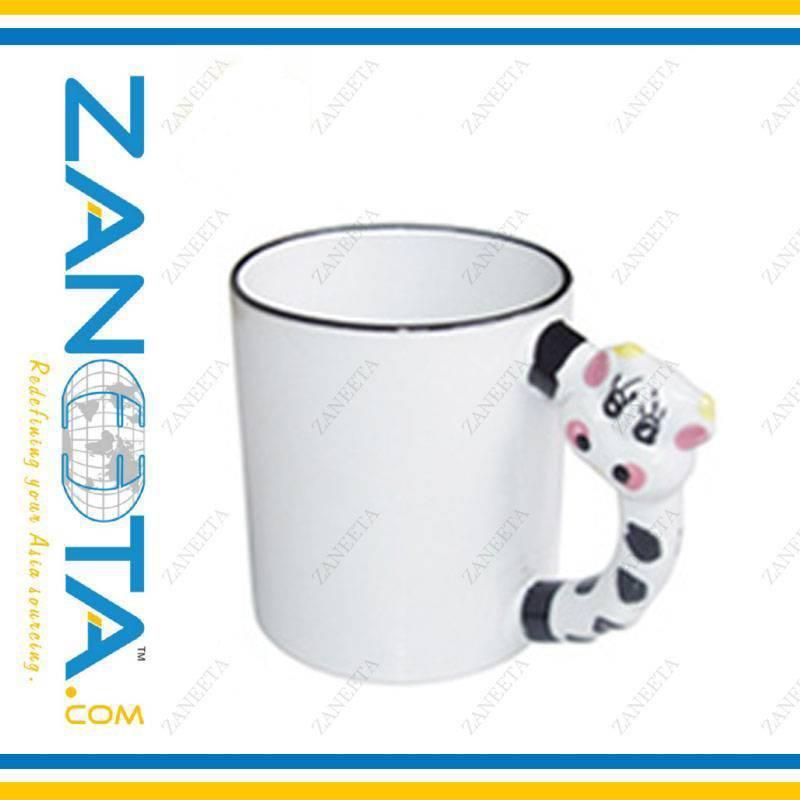 sublimation mug with animal handle