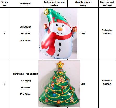 Christmas & Santa & XMAS Helium Foil Mylar Balloons