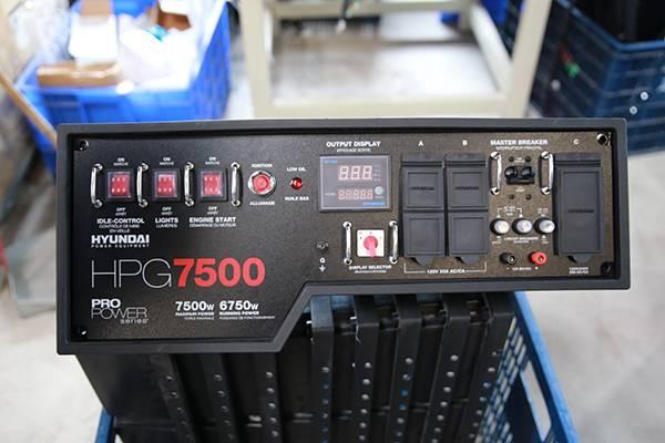Generator panel Model designed and manufactured for Hyundai Generator HPG7500