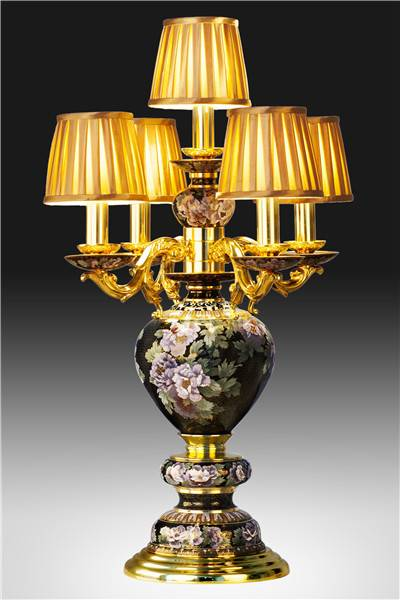 """Great Rich and Honour"" Cloisonne Lamp"