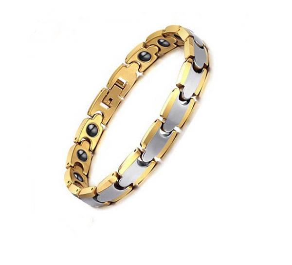 2015 new design germanium energy power stainless steel magnetic bracelet