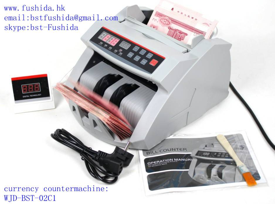 currency counter with detect function,money counter,banknote counter,skype:bst-fushida
