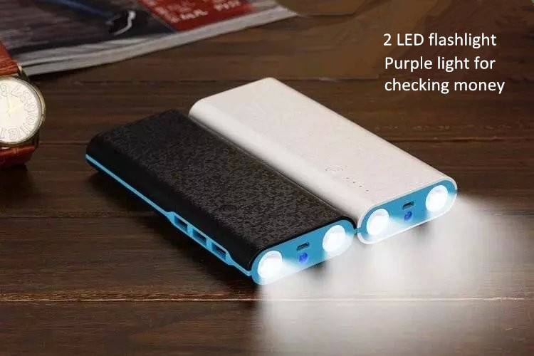 13000mAh 3 USB 2.1A High Capacity Fast Portable Charger External Battery Power Bank