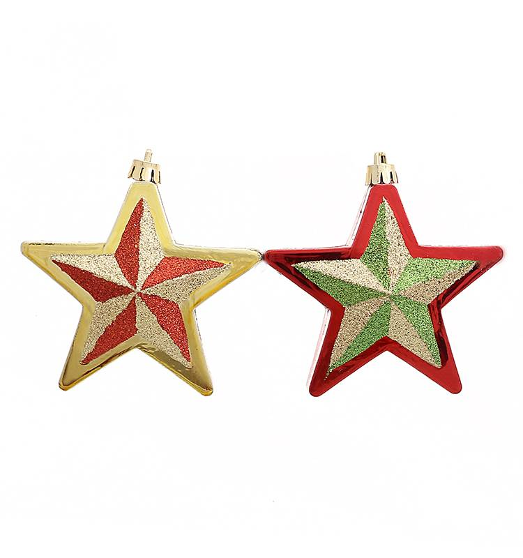 2016 New Arrival Personalized Plastic Five-Pointed Star For Christmas Ornament