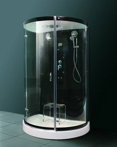 Black style steam room with tempered glass M-8289