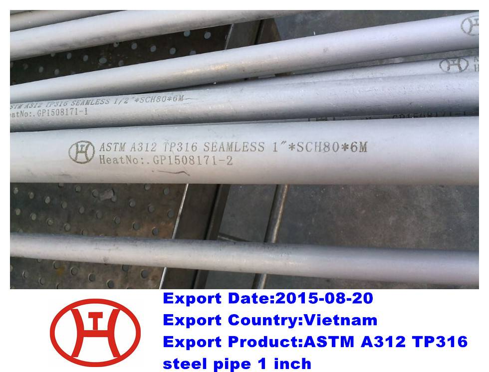 A312 TP316 steel pipe