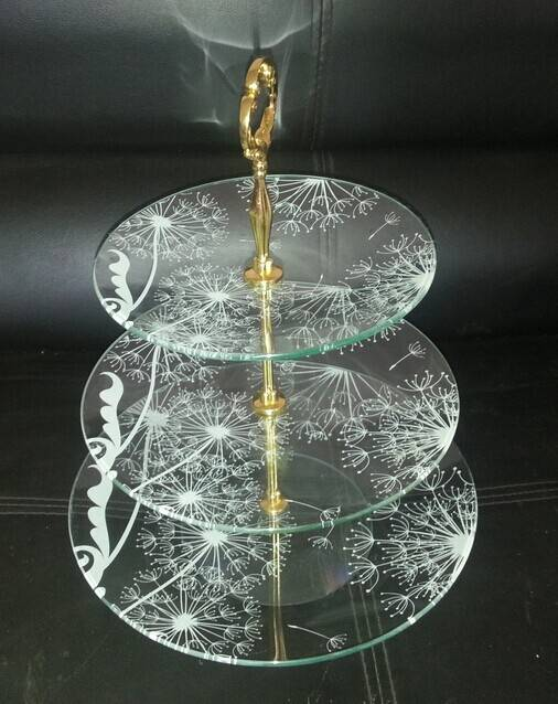 Fruit tempered glass stand