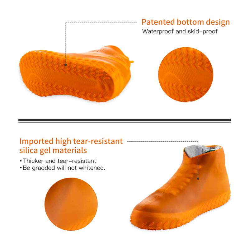 Silicone Rubber Waterproof Rain Boot Protector Ankle Rain Shoe Cover