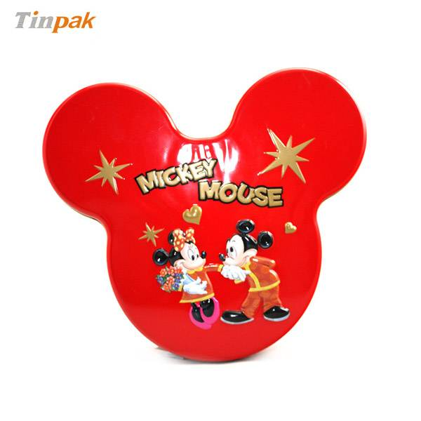 Mickey mouse shape biscuit tin box