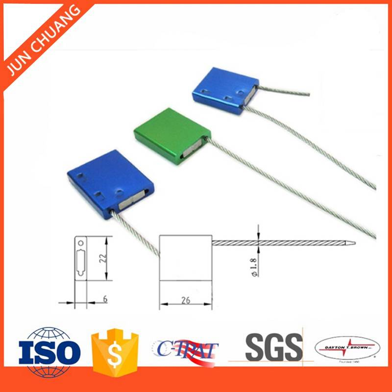 Adjustable tamper lock cable seal for logistics transport
