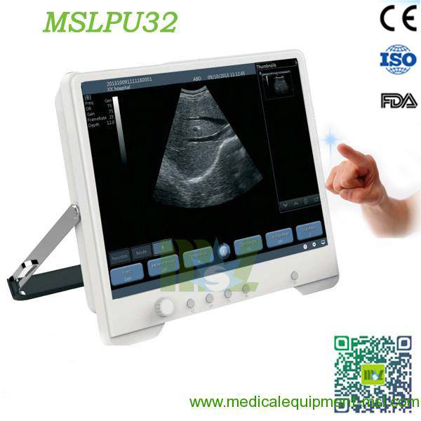 Protable touch screen ultrasound machine MSLPU32 for sale