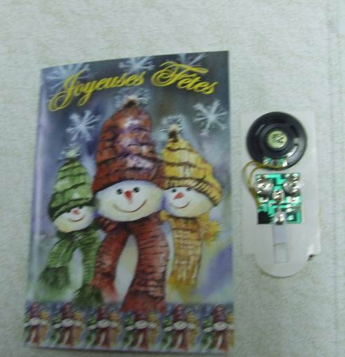 christmas card sound module