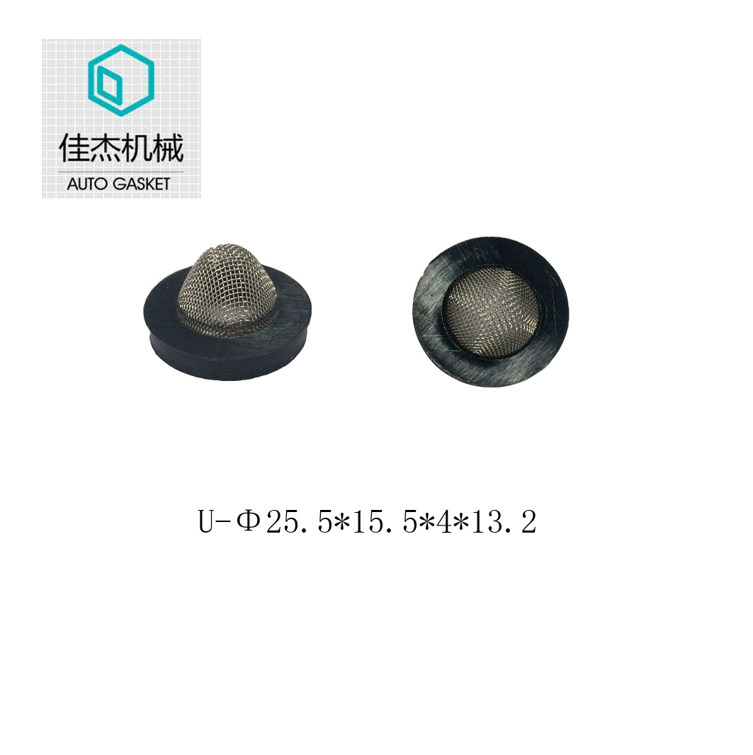 rubber wrapping filter mesh gasket on water filter