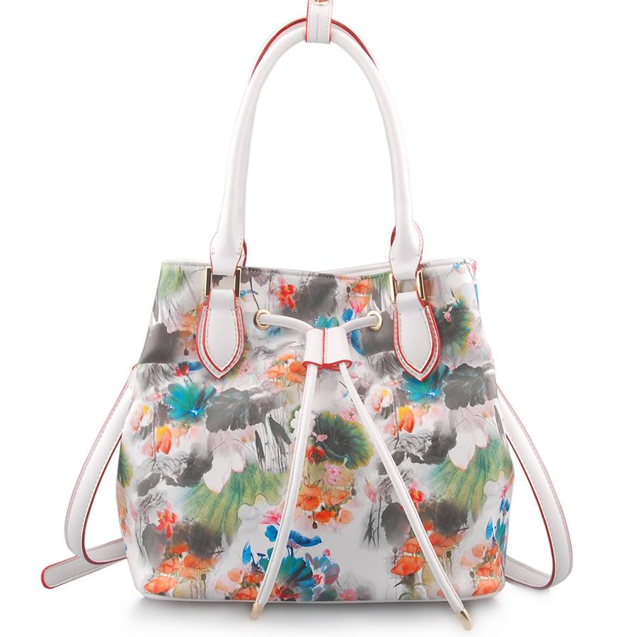 Guangzhou Supplier Fashionable Printing PU Leather Ladies Handbag (LY05040)