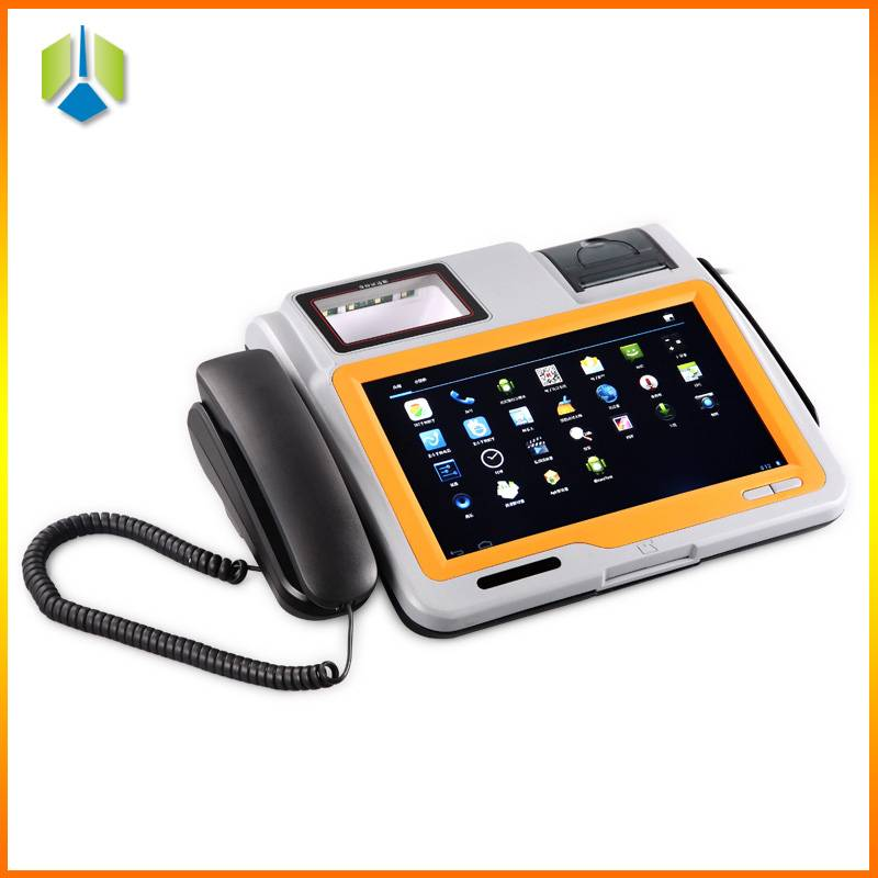 10.1 inch android barcode pos terminal with thermal printer and barcode scanner