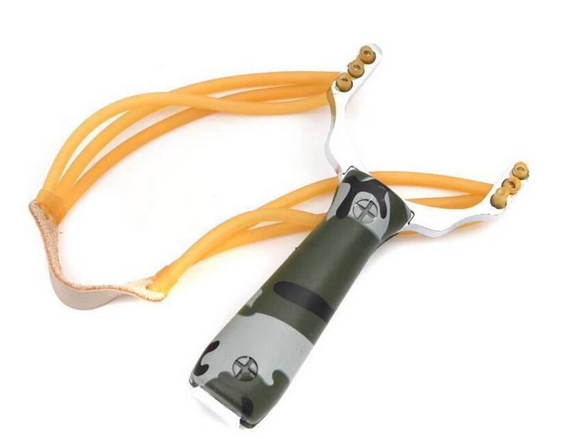 Newest Slingshot Aluminium Alloy Slingshot Camouflage Bow Catapult Outdoor Slingshot