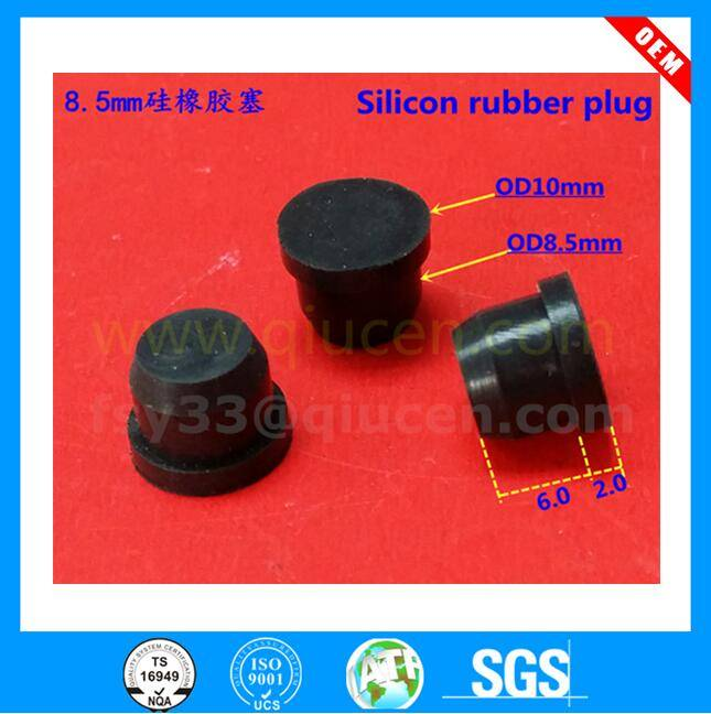 customized food grade 8mm silicone rubber stopper medical rubber stopper