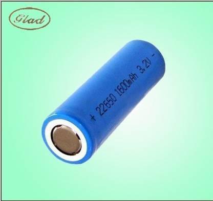 1600mAh 26650 cylindrical LiFePO4 battery 3.2V